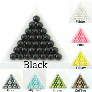 Round ABS Imitation Pearl No Hole Loose Beads DIY Craft Jewelry Making#