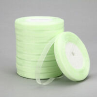 "New 50 Yards 3/8""10mm Satin Edge Sheer Organza Ribbon Bow Craft Wedding B-K06"
