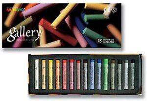 Mungyo Gallery Artists' Extra Fine Soft Pastel Set 15 Color Pastels MPA-15