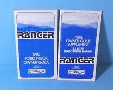 86 1986 Ford Ranger owners manual with Diesel