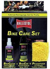 BALLISTOL Bike Care Set für Profis: Bike Clean + BikeCer + Microfaser Pflegetuch