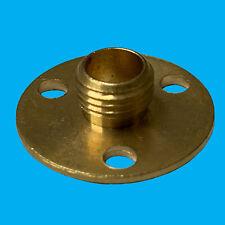 6x M10 10mm x 25mm Brass Base Backplate Allthread Hollow Thread Tube Lampholder