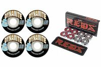 Dynamite Forever 54mm Skateboard Wheels + Bones Reds Bearings
