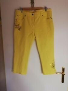 capri jeans,Gr.42/44,gelb,mit Pailletten