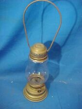 Late 19thc VICTORIAN Era BRASS Ice SKATERS LANTERN Small OIL LAMP