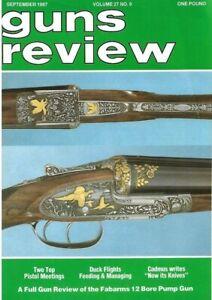 Guns Review September 1987 - Fabarms shotgun, rifles, pistols, airguns, shooting