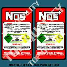 NOS NITROUS BOTTLE DECAL X2 STICKER SET REPLACEMENT HOT ROD DRIFT RALLY STICKERS