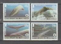 MAR115  - MARINE LIFE FISH BRITISH ANTARCTIC TERRITORY 2003 WHALES WWF MNH