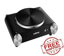 CUSIMAX Electric Hot Plate for Cooking Portable Single Burner 1500W Cast Iron ho