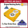 NBD413  2 X REAR BRAKE DISCS  FOR RENAULT CLIO