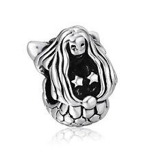 Fairy tale Bead Mermaid Style European 925 Silver Charms For Sterling Bracelets