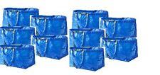 IKEA 10 x FRAKTA Large Blue Storage Laundry Bags New
