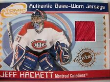2002 ATOMIC AUTHENTIC GAME USED HOCKEY JERSEY,JEFF HACKETT, MONTREAL !! BOX 15
