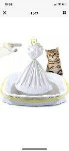 """14 Jumbo Cat Litter Box Pan Liners Large 36"""" X 18"""" Liner Drawstring Extra Thick"""