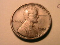 1928-S Ch VF Brown Original No Problems Lincoln Wheat US One Cent 1 Penny Coin