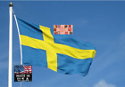 SWEDEN Swedish 3x5 ft Heavy Duty In/outdoor Super-Poly FLAG BANNER*USA MADE