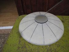 Ancien abat jour vasque plafond plafonnier en verre Art Déco design xx eme