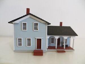 Vintage Hand Made G&M Gudgel Miniature Blue House