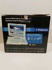 """Polaroid PDM-0723 7"""" Swivel Portable DVD Player Complete In Box Works Great"""