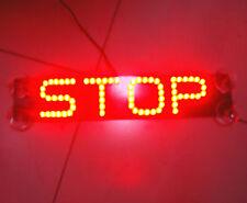 Rear Windshield High Level Brake Light Red STOP LED Sucker Warning Brake Light