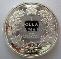 1911-2011 CANADA COMMEMORATIVE SPECIAL EDITION PROOF SILVER DOLLAR COIN