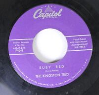 Rock 45 The Kingston Trio - Ruby Red / Tom Dooley On Capitol