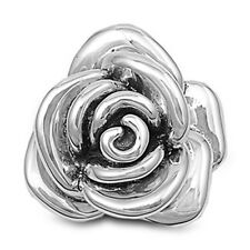 Flower Rose Pendant .925 Sterling Silver Charm