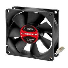 Evercool 4 Wire PWM Case Fan or CPU Fan 80mm x 25mm New! EC8025H12BP