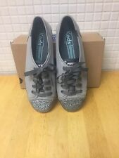 Keds Rally Glitter Toe Gray Size 6.5 or 7