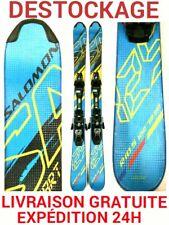 "mini ski snowblade occasion SALOMON ""SHORT KART"" taille:120cm+ fixations."