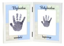 Dual Hand Print Frame for Big and Baby Brothers by Grandparent Gift Company