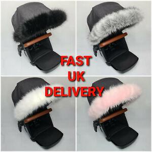 Pram Fur Hood Trim Accessories BABY Pushchair Stroller Buggy Pram Fur FAST UK