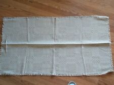 "Latvian hand-woven ethnographic linen tablecloth/table runner,  41"" x 22"""