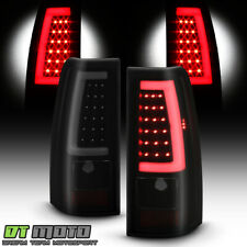 2003-2006 Chevy Silverado 1500 2500 3500 Black Smoked LED Tube Tail Lights Lamps