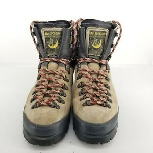 B1 La Sportiva Mens Tan Black Leather Outdoors Mountaineering Boots Size US 9