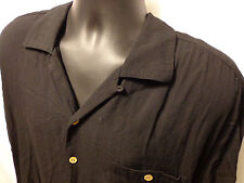 Men's Sport Shirt Beyond Paradise short Sleeve Black 100% Viscose