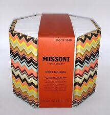 Missoni Target Note Holder Colore Chevron Zig Zag Multi-Color 800 Sheets NEW