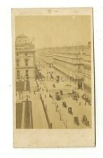 Rue de Rivoli, Paris - Original Carte-de-visite Photograph - Late 19th Century