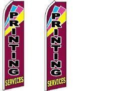 Printing Services King Size Polyester Swooper Flag pk of 2