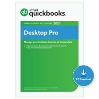 QuickBooks Desktop PRO 2021 1 user FREE CD INCLUDED.