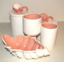 Fitz and Floyd Shells Vanity Bathroom Set 5 Piece 1976 Vintage Nice Condition