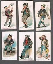 1889 N88 Duke's Cigarettes The Terrors of America Tobacco Cards Lot of 6