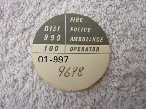GPO BT P.O Original Used Telephone Dial Label Part 706 746 8746 phone Old
