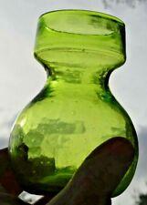 PONTILED LIME GREEN HYACINTH VASE HAND BLOWN
