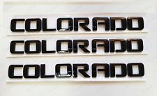 3PCS NEW Gloss Black COLORADO 3D Letters Door Nameplate Emblem Badge Chevrolet