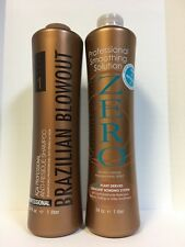 ZERO BRAZILIAN BLOWOUT SMOOTHING SOLUTION & ANTI RESIDUE SHAMPOO - 34oz LITER