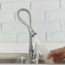 Stainless Steel Kitchen Sink Faucet Pull Down Single Handle Lavatory Faucet Tap