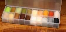Top Flight dry fly 20 colores capturar dispenser Hareline dry Flight 20 Dub Box