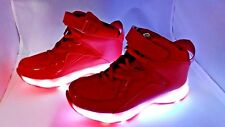 Light Up High Top Sneakers CHILDRENS SIZE 12.5 Red Rechargeable shoes #366