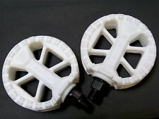 "Old School White  1/2"" Pedals, OldSchool BMX/Freestyle Bike Wellgo"